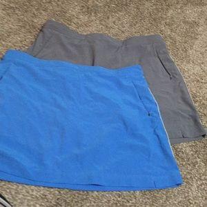 Set of 2 Danskin L tennis/workout skirt/skort
